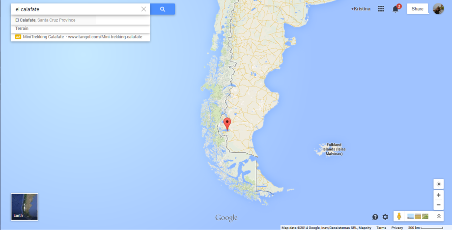 Calafate map