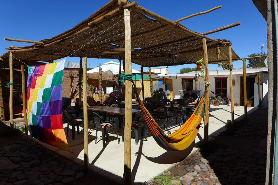 внутренний двор и флаг инков